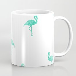 Aqua Blue Flamingo Pose Coffee Mug