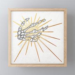 Skeleton Hand Inktober :: Dreadful Fairy Tales Framed Mini Art Print