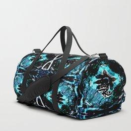 Fluorescent Flower Duffle Bag
