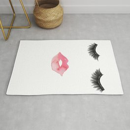 Lips and Lashes Rug