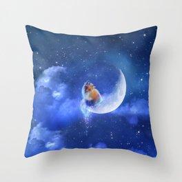 Moonfox Throw Pillow