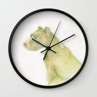 minnie Wall Clocks featuring Minnie by Anna Dunlap Hartshorn