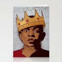 kendrick lamar Stationery Cards featuring King Kendrick by Gagegfx