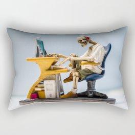 Dead at the Screen (Skeleton) Rectangular Pillow