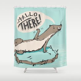 Hallo There Shower Curtain