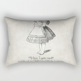 Have I Gone Mad Quote Rectangular Pillow