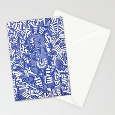 - captain lost in blue - Stationery Cards