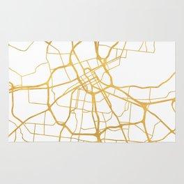 NASHVILLE TENNESSEE CITY STREET MAP ART Rug