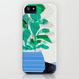 Ditz - house plant art neon pattern texture inky memphis style throwback 1980s 80s retro vintage  iPhone Case