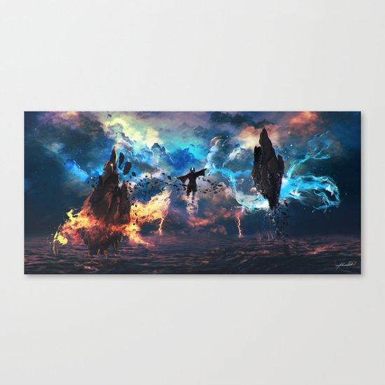 Avatar: The Last Airbender - Aang @ Avatar State - Fan Art Canvas Print