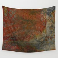 frame Wall Tapestries featuring Eroded Frame by Fernando Vieira
