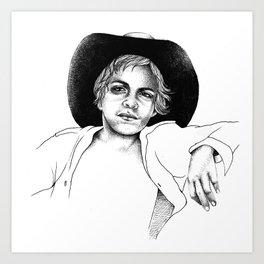 Aboriginal ABoriginal Kid Art Print