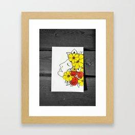 Flower Lady Framed Art Print