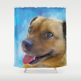 Hurley - Puggle Shower Curtain