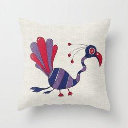 Purple Turrrkey Throw Pillow