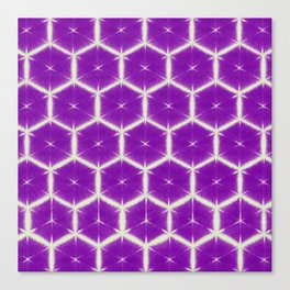 large honey comb in purple Canvas Print