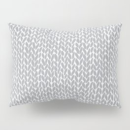 Hand Knit Light Grey Pillow Sham