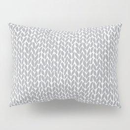 Hand Knit Light Grey Pillow Sham