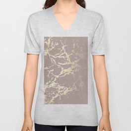 Kintsugi Ceramic Gold on Clay Pink Unisex V-Neck