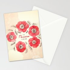 Poppy Passion: I See Passion In Your Work Stationery Cards