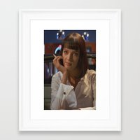 mia wallace Framed Art Prints featuring Mia Wallace  by Claudia