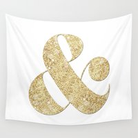 ampersand Wall Tapestries featuring Ampersand by Jeans and Tees and Travel and Cakes