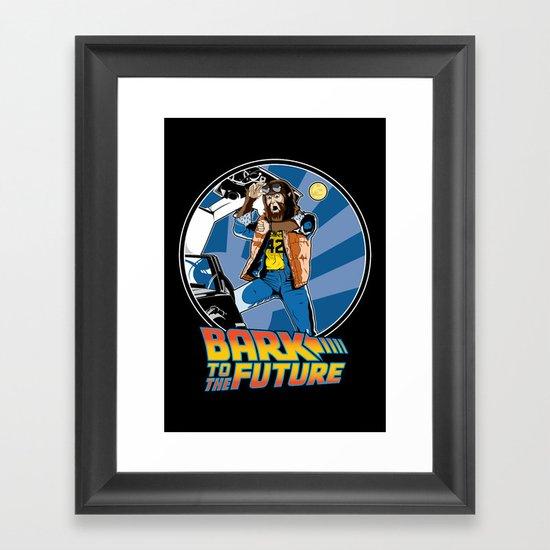 Bark to the Future Framed Art Print