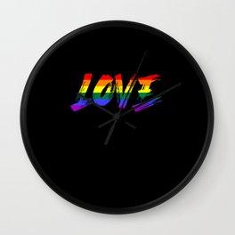 Love rainbow pride, Love gay and lesbian Wall Clock