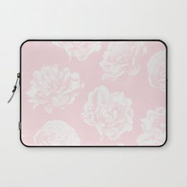 Pink Roses in Flamingo Pink Laptop Sleeve
