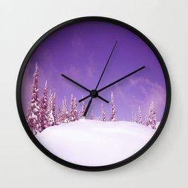 Winter 7 Wall Clock