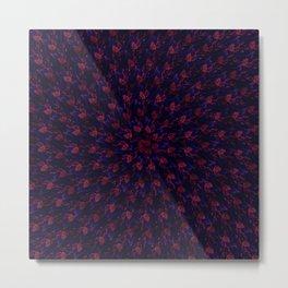 Spiral Bouquet Pattern Metal Print