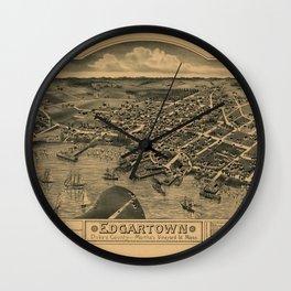 Map Of Marthas Vineyard 1886 Wall Clock