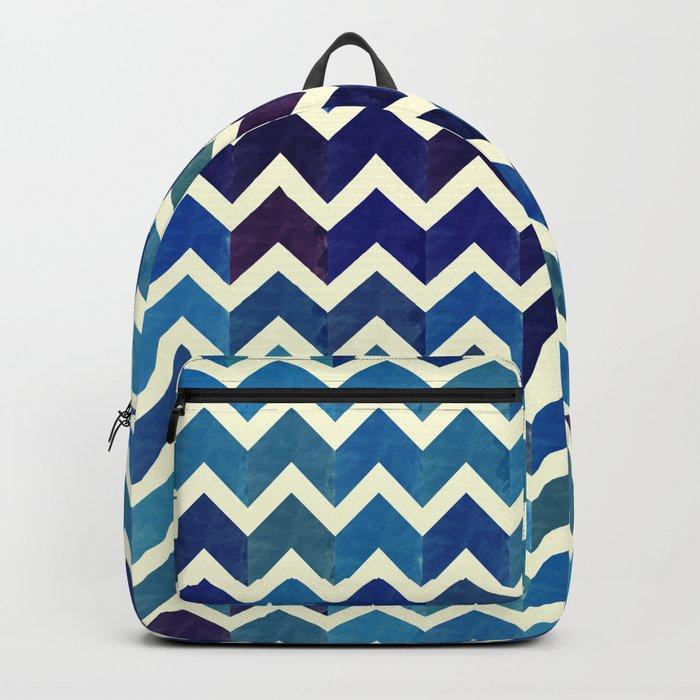 Watercolor Chevron Pattern III Backpack