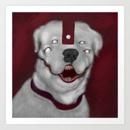 DAEMON DOG Art Print