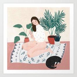 Weekend Vibing Art Print