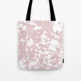 Blush Pink White Spilled Paint Mess Tote Bag