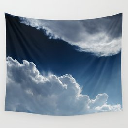 Sky, clouds and lights. Wall Tapestry