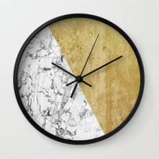 Marble vs GOld Wall Clock