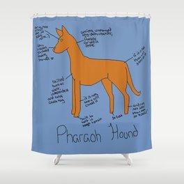 Pharaoh Hound Shower Curtain