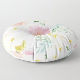 Sweet Pink Blooms (Floral 02) Floor Pillow