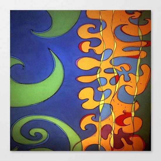 OCEAN Wave SHOWER CURTAIN #B Canvas Print