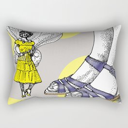 Thought fairy and giant Rectangular Pillow