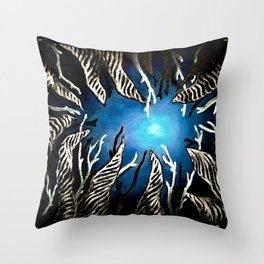 Night at Sea Throw Pillow