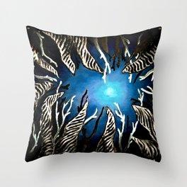 Night at Sea Throw Pillow