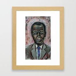 Black Jeff Koons (oil on canvas) Framed Art Print