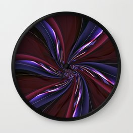 Blossom red prurple Wall Clock