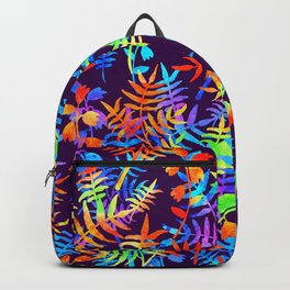 Rainbow watercolor flowers psychedelic Backpack