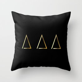 Gold Homes Throw Pillow
