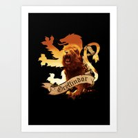 gryffindor Art Prints featuring Gryffindor by Markusian
