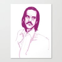 nick cave Canvas Prints featuring Nick Cave by 1and9